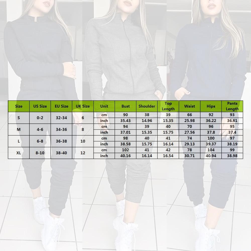 Women 2 Pcs Tracksuit Sports Long Sleeve Sweatshirts Thin Fleece Joggers Suits Running Set Workout Gym Spring Sportswear 6