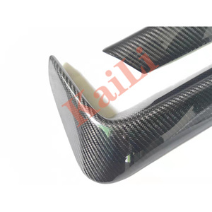 Image 5 - 1Pair Car Rear Bumper Lip Splitter Diffuser Lower Corner Cover Trim Spoiler For BMW F80 M3 F82 F83 M4 2015 2018 Real Carbon