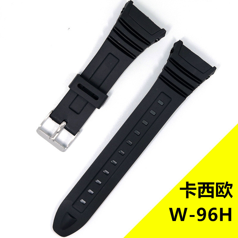 For Casio G-SHOCK W-96H Watches Watchband Silicone Rubber Bands EF For Casio Electronic Wristwatch Sports Watch Replace Straps