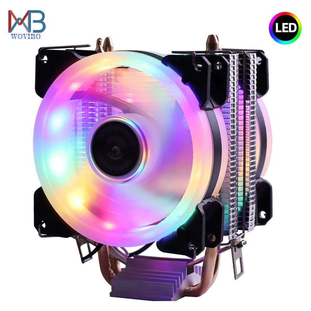 Efficient Cooling CPU Cooler Fan 3pin For Intel LGA 1150 1151 1155 1156 775 1200 AMD AM3 AM4 Quiet Ventilador Silent Radiator 1