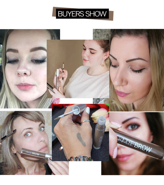 KIMUSE Eyebrow Pencil Eyebrow Gel Brow Henna Tattoo Waterproof Eyebrow Dye With Brush Eyebrow Cream Pigments Cosmetic Eyebrows 2