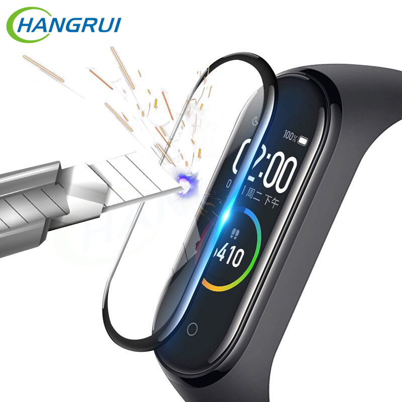 2Pcs Fiber Glass Protective Film Mi Band 4 Screen Protector Soft Protector For XiaoMi Mi Band 4 Case MiBand 4 Smart Accessories
