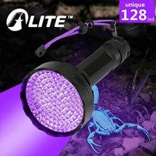 UV Flashlight 395 Nm 128 LEDs Blacklight 18W UV LED Torch Light For Pet urine testing & Dog Cat Urine Detector,6 x AA Battery