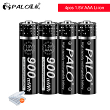 PALO 1.5V lithium Rechargeables AAA Batterie 900mWh 1.5V AAA Li ion Batterie Rechargeable pour jouet lumineux à led mp3