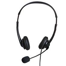 OY136 3.5mm bilgisayar kulaklığı gürültü iptal kafa monte kulaklık çağrı merkezi kulaklık İş çağrı merkezi Mic ile