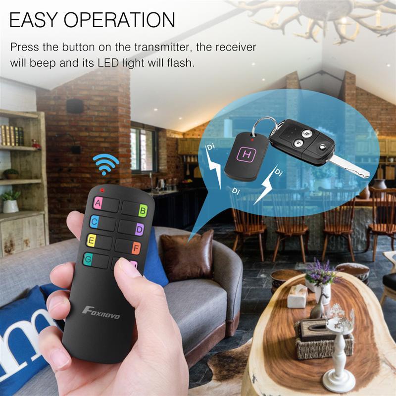 Anti-Verloren Wireless Key Finder Locator Afstandsbediening Tracker Alarm Sleutelhanger Locator Portemonnee Tracker Zender 8 Ontvangers 2