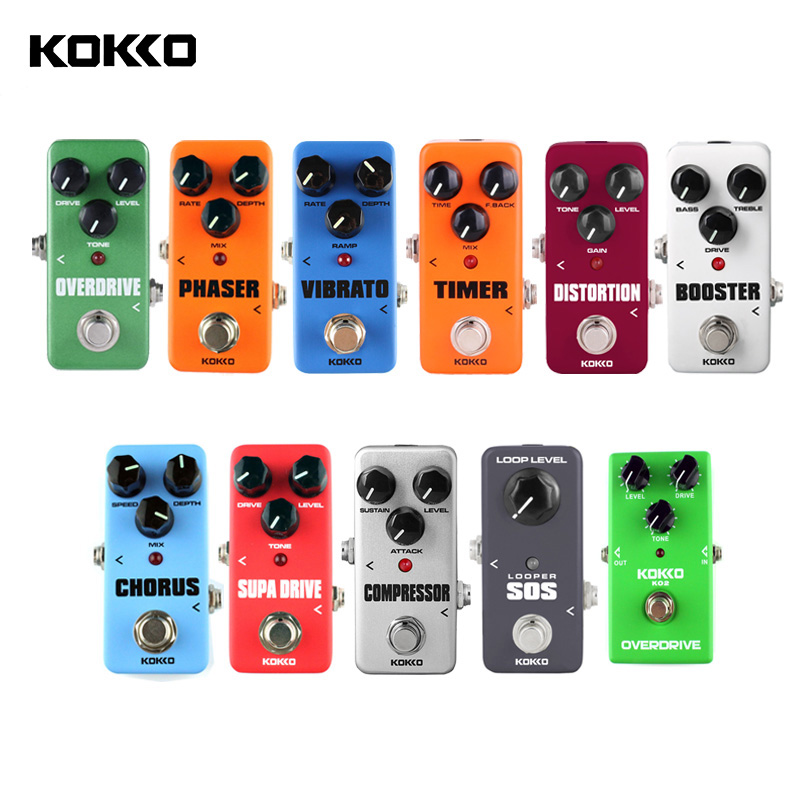 KOKKO Portable Guitar Effect Pedals Compressor Looper Overdrive Booster sound True Bypass Unlimited Overdubs pedal de guitarra image