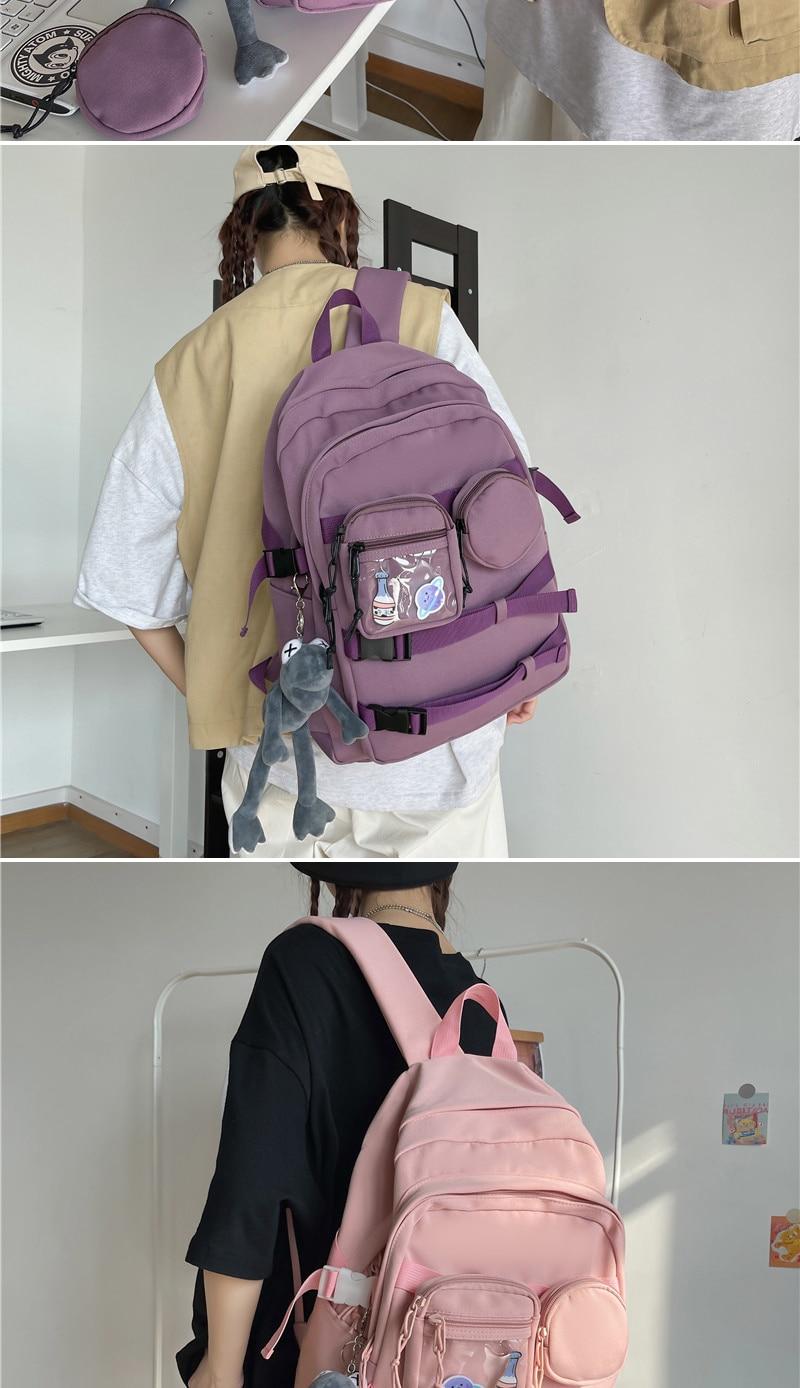 mochila feminina destacável mochila grande capacidade para