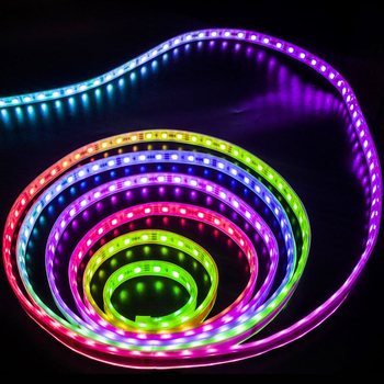 2811 5050 RGB LED Strip Light 12V WS2811 IC 30 LEDs/m Pixels Programmable Individual Addressable Flexible Diode Ribbon Tape Lamp 5m dc12v ws2811 2811 ic 5050 smd independent addressable rgb led pixels strip 30leds m dream magic color led pixels with control