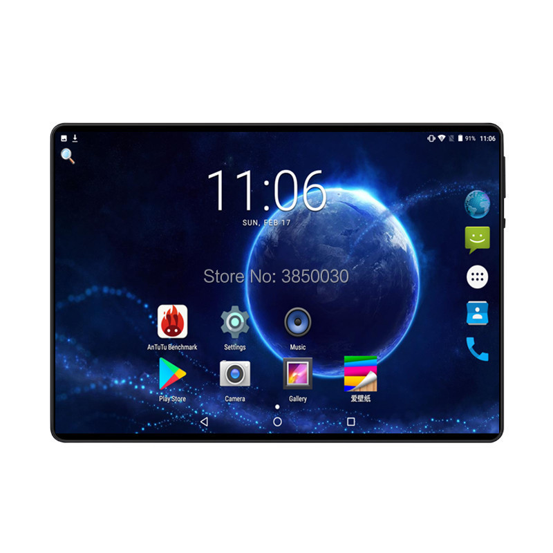 10 Inch Tablet PC Octa Core Android 9.0 6GB RAM 64GB ROM 8 Core Dual SIM Card GPS Bluetooth Call Phone Gifts MID Tablets 10.1