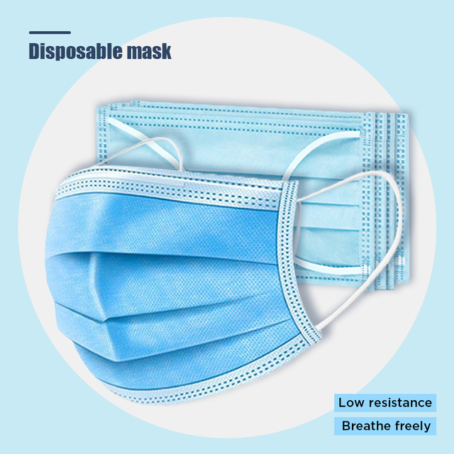 10pcs Dustproof Disposable Mouth Masks Earloop Face Mouth Nose Cover Masks Protection Anti Dust Flu Pollution