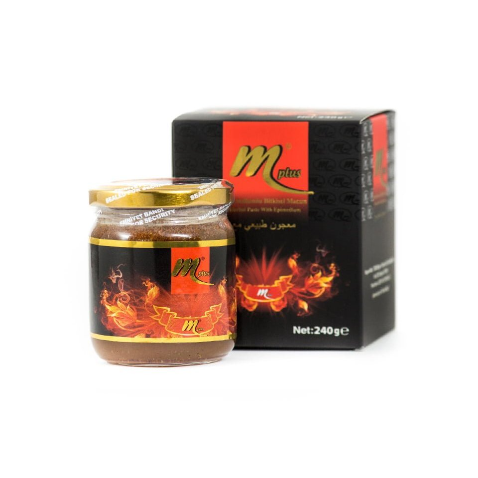 Mplus Epimedium Turkish Honey Mix  230gr –Aphrodisiacs Horny Goat Weed Turkish Paste, %100 Halal