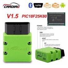 Konnwei KW902 Bluetooth/Wifi ELM327 V1.5 V2.1 PIC18F25K80 OBDII כלי אבחון ELM 327 OBD2 קוד קורא תמיכה J1805 פרוטוקול