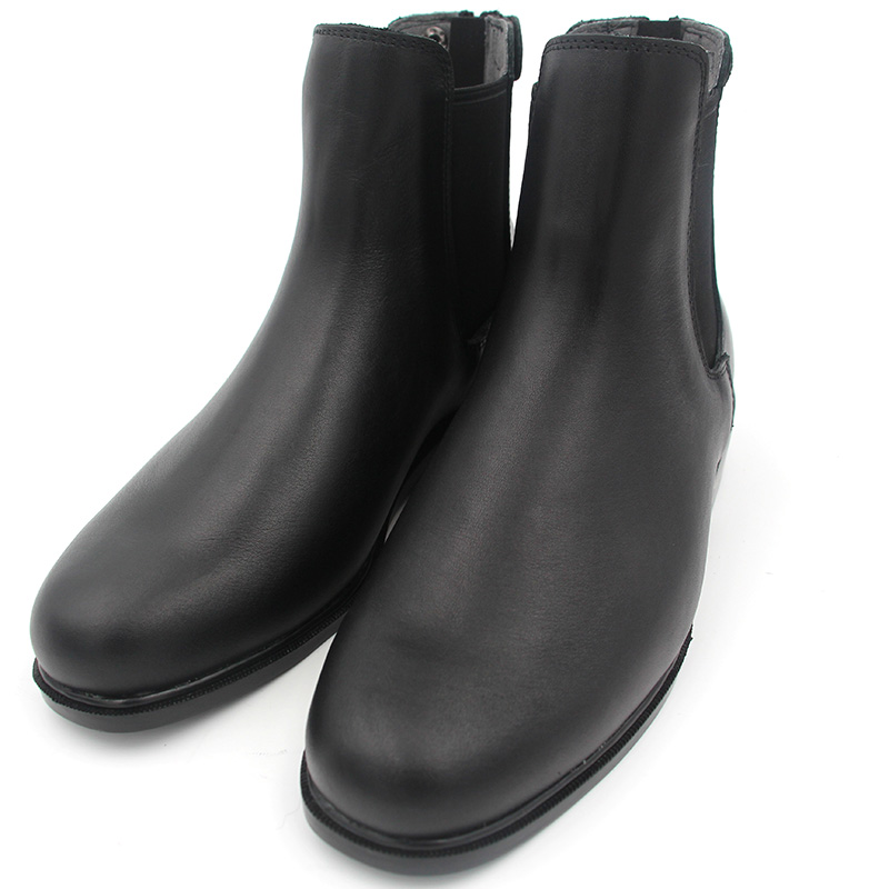 Full Leather Horse Riding Boots 1 Pair Men Women Back Zipper Quality Saddle Shoes Black Calf Protector Equestrian Short Boots