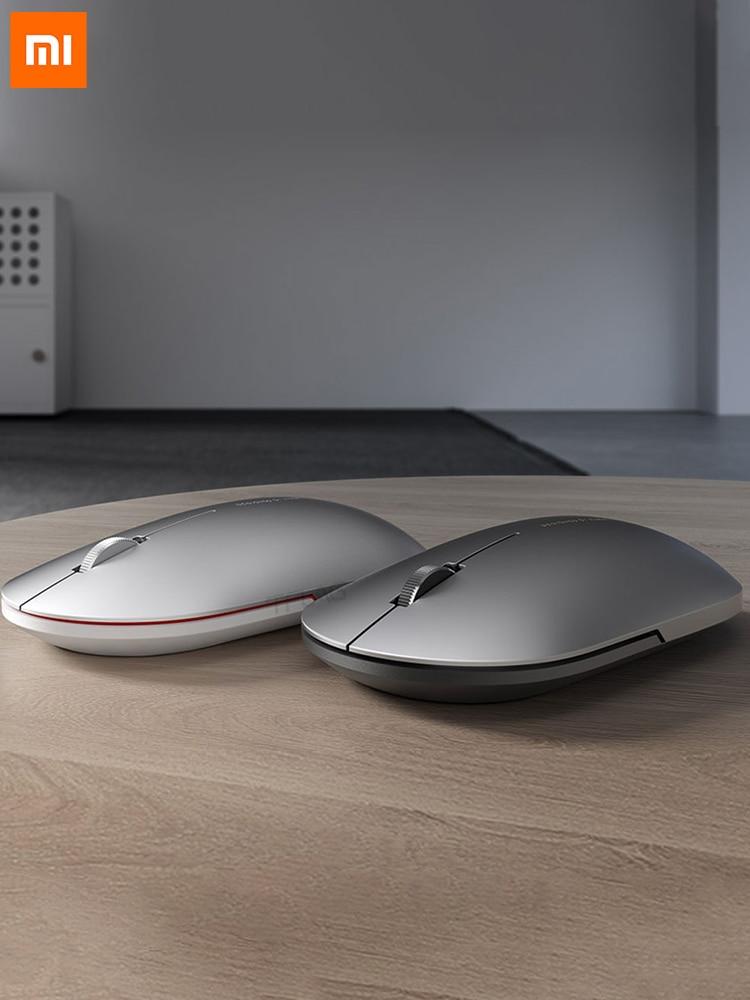 Оригинальная Модная Портативная Беспроводная игровая мышь Xiaomi , 1000 точек/дюйм , 2,4 ГГц, Bluetooth, оптическая мышь , мини металлическая мышь|Мыши|   | АлиЭкспресс
