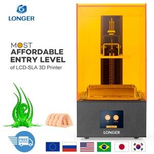 LONGER Orange10 3d принтер доступный SLA 3D печать умная поддержка быстрая нарезка УФ свет отверждения легко работать входной уровень 3D Printer 3д принтер...