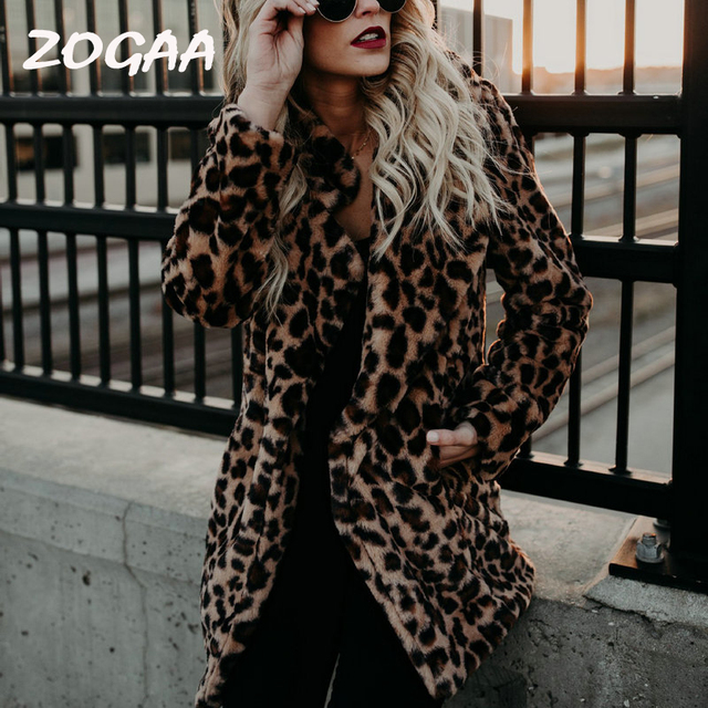 Thicken Leopard Women Jacket Faux Fur Coat Women Slim Casual Luipaard Fur Jackets Female Harajuku 2018 Women Coats and Jackets