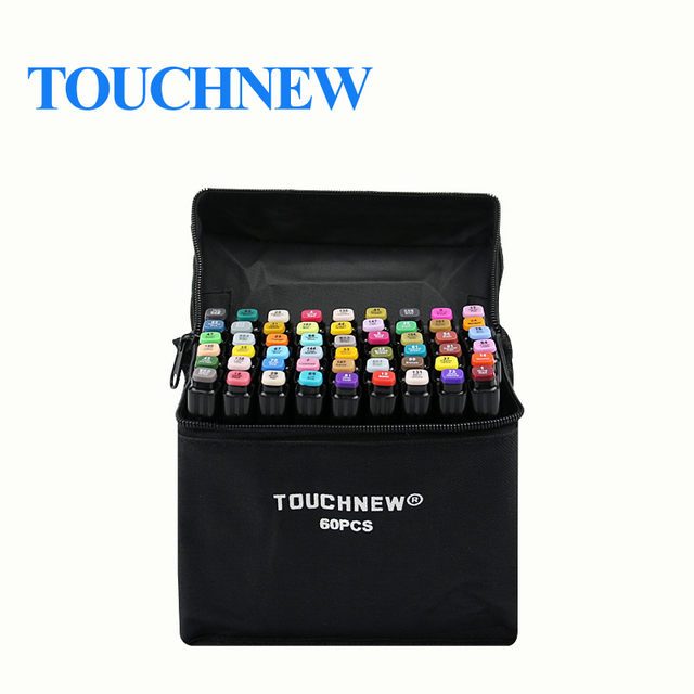 TOUCHNEW 30/40/60/80/168 Colors Graphic Marker Pens Set Sketch Manga Art student Markers (White pen)