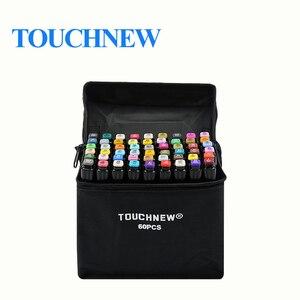 Image 1 - Touchnew 30/40/60/80/168 cores marcador gráfico canetas conjunto esboço manga arte estudante marcadores (caneta branca)