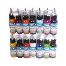 Tattoo-Ink-Set Permanent-Makeup Professional 14-Colors Natural-Materials 30ml/bottle