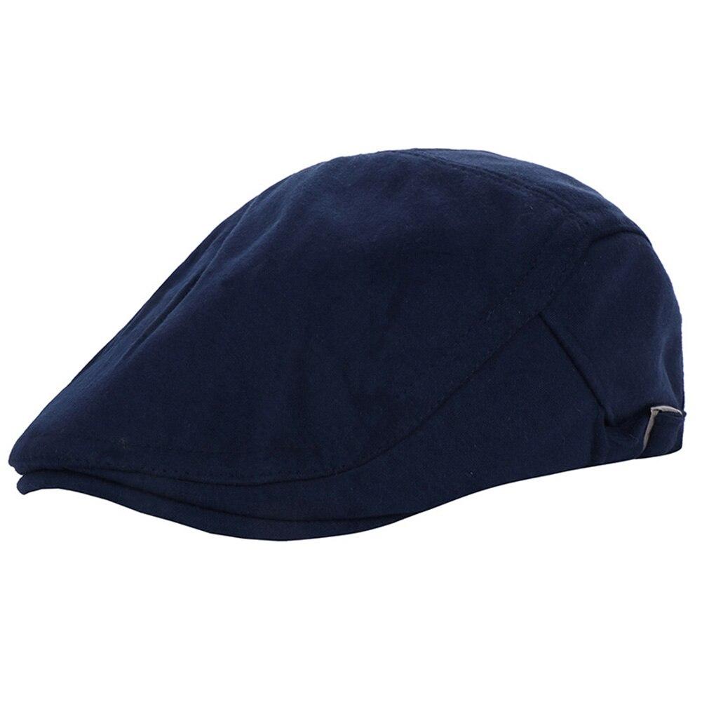 Винтажная хлопковая кепка утконоса среднего возраста, Спортивная Кепка для активного отдыха, регулируемая, для вождения, для солнца, плоская кепка газетчика, унисекс, береты, шляпа, подарок - Цвет: Тёмно-синий