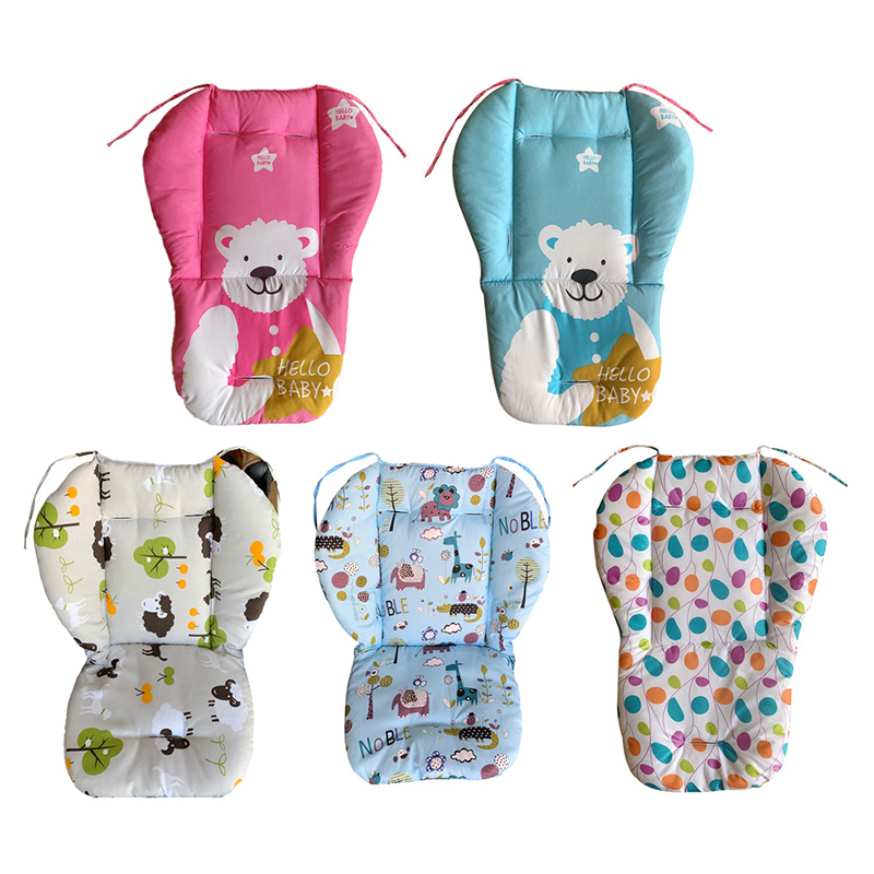 Cartoon Baby Stroller Seat Cushion Pushchair Pram Car Soft Mattresses Baby Carriages Seat Cotton Pad Stroller Mat Accessories