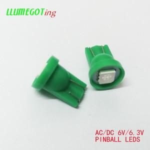 Image 4 - 100pcs 194 T10 #555 טרז בסיס 1SMD 5050 6.3V AC אין קוטביות שונים צבע זמין עבור Bally פינבול משחק מכונת מנורת נורות