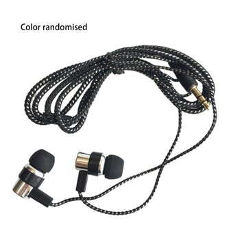 NewBraided wired earphones Subwoofer In-Ear Earphones Noise Isolating Headset For Phones MP4 PC Tablet Xiaomi Samsung Huawei