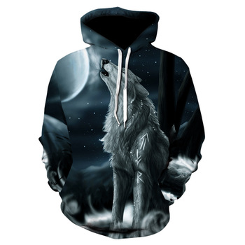 2020 New Hoodies For Men And Women 3d Printing Ferocious Wolf Head Sweatshirt Kids Fashion Hip Hop Casual Coat 1