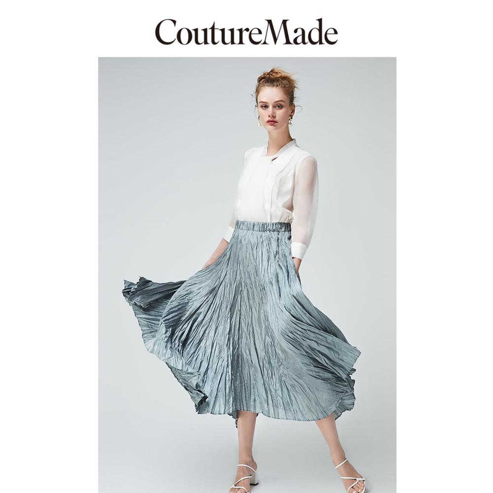 Vero Moda CoutureMade Women's Textured Creased Elasticized Waistband Skirt | 319216507