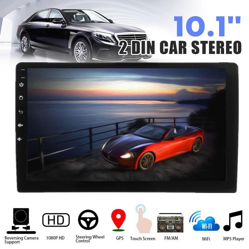 7/'/' HD Car Stereo Radio GPS Navi MP5 Player 2 DIN Wifi USB AM FM Android 8.1+CAM