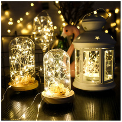 2021 Christmas Decoration LED String Lights Copper Wire Fairy lights For Christmas Garland Outdoor Wedding Party Decoration Lamp