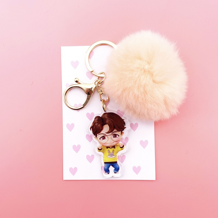 BTS Group Official Kawaii Keychain