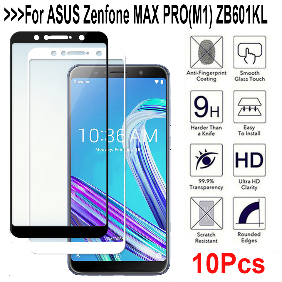 9H Full Cover Protection Tempered Glass For ASUS ZenFone Max Pro M1 ZB601KL ZB602KL Screen Protector Phone Protective Film 2.5D