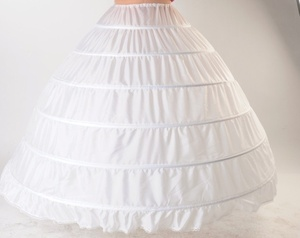Image 1 - Plus Größe Große Stahl Hochzeit Taschen 6 Braut Kleid Extra Große Schiebe Stahl Weiß 6 Hoops Petticoat Krinoline Slip Petticoat