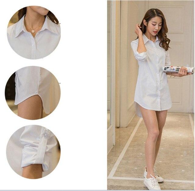 Casual Loose Women Shirts Collar Plus Size Blouse Long Sleeve Buttons White Shirt Women Tops Streetwear 4