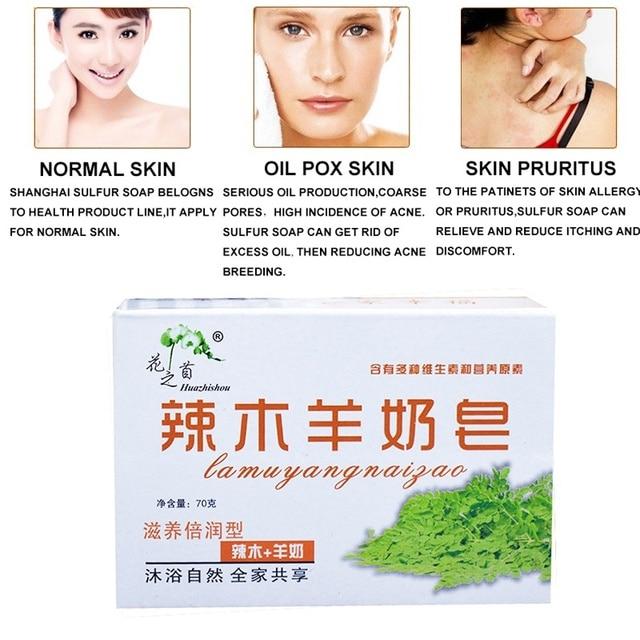 100% Goat Milk Soap Skin Whitening Collagen Moisturizing Anti Aging 60g 2019 New 3