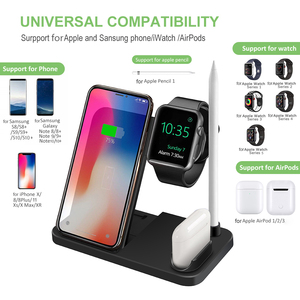 Image 4 - DCAE 4 in 1 Wireless Charging Dock Station Qi Charger Stand for Apple Watch iWatch 5 4 3 2 1 AirPods iPhone 11 XS XR X 8 Samsung