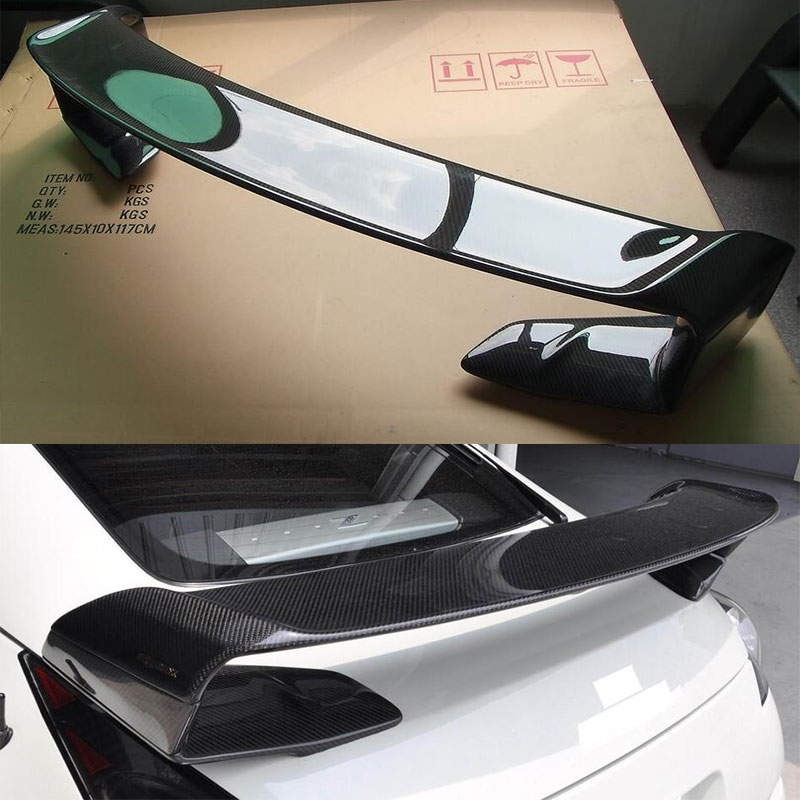 M STYLE FOR NISSAN GT-R <font><b>GTR</b></font> <font><b>R35</b></font> CARBON FIBER <font><b>REAR</b></font> TRUNK WING <font><b>SPOILER</b></font> 2009-2015 image