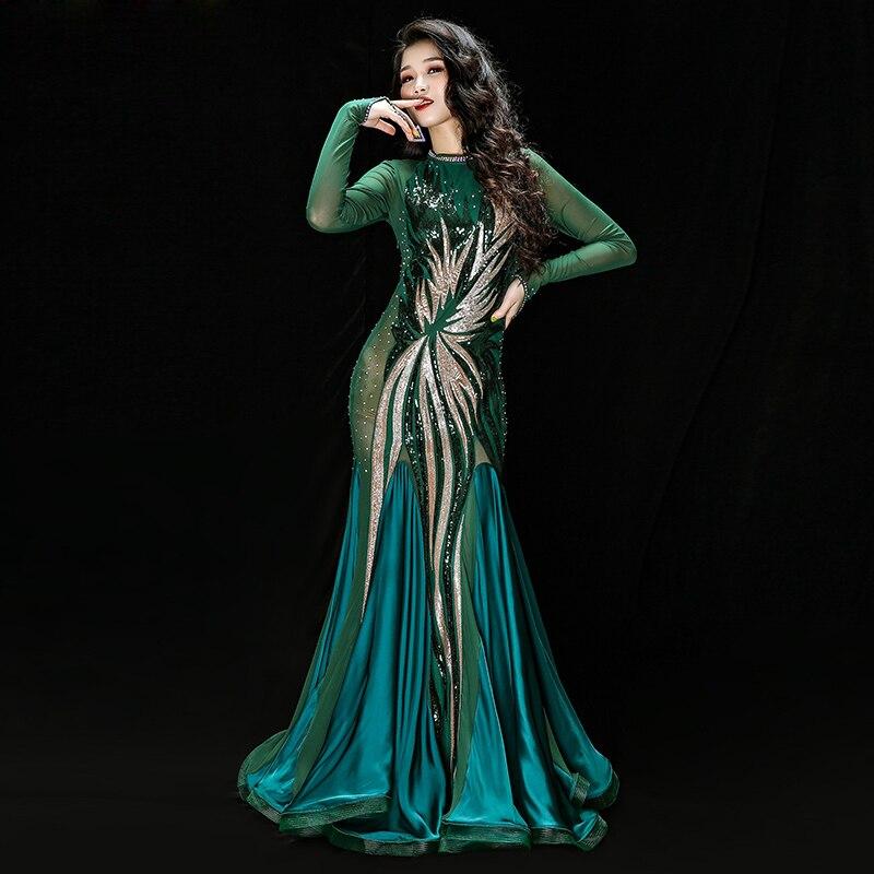 New 2019 Iraq Dress Professional Belly Dance Costumes For Women Khaleegy Robe Bellydance Oriental Clothes