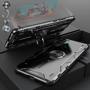 Image 2 - Magiczny pancerz metalowy aluminiowy pokrowiec do Huawei P30 Pro Mate 30 20 Pro pokrowiec z miękkiego silikonu odporny na wstrząsy pokrowiec do Huawei Nova 5 Pro Capa