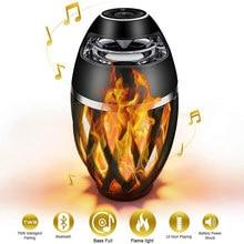 Flamme Lautsprecher Taschenlampe Atmosphäre Lautsprecher Bluetooth Drahtlose Tragbare Outdoor HD Audio Wasserdichte Lautsprecher mit LED Flackert Lichter