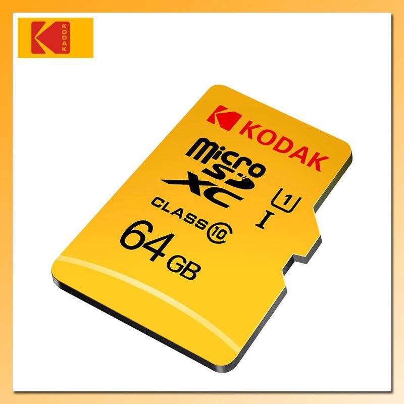 Tarjeta Micro SD Kodak U1 de 128GB, 64GB, 32GB y 16GB, tarjeta de memoria Flash dorada de alta velocidad TF/SD, tarjeta Micro sd de Clase 10, tarjeta de memoria