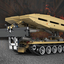 1155PCS Military Light Version Type 84 Tank Bridge Truck Model Building Blocks Army Soldier