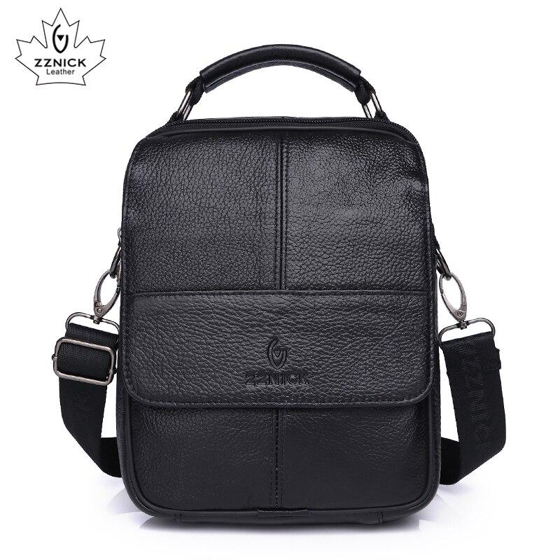 Men's Shoulder Bag Crossbody Bag Messenger Bags Genuine Leather Bag Male High Quality Luxury Handbag Shoulder Handbag ZZNICK