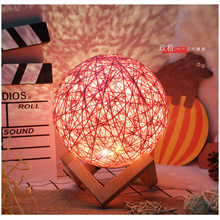 USB Charge Room Decoration Desk Lamp Home Art Layout Woven lamp Grils Gift Night Lighting Buttion Switch
