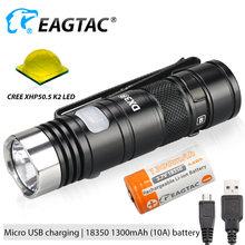 Светодиодный перезаряжаемый фонарик eagtac dx3b mini pro xhp502