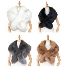 Women Faux Fur Shawl Female Winter Warm Top Quality Attractive Fox Furry Cloak Luxury Brand Shawls And Scarves