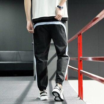 2020 New Hip Hop Joggers Cargo Pants Men Harem Pants Multi-Pocket Ribbons Man Sweatpants Streetwear Casual Mens Pants S-6XL - XXXL, 2003black blue