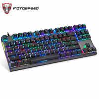 MotoSpeed K82 rétro-éclairage professionnel ordinateur de jeu clavier mécanique RGB LED USB filaire 87 touches clavier pour jeux Esports